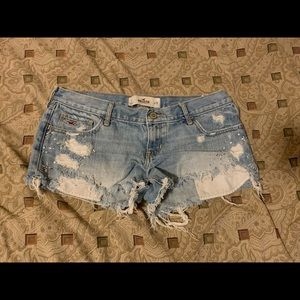 Hollister Short Jeans Shorts: 7 W28